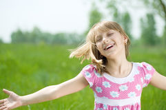 Happy little Girl outdoor Stock Photography