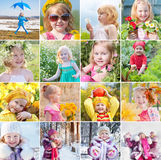 Happy little girl outdoor Royalty Free Stock Images
