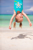 Happy little girl outdoors during summer vacation Royalty Free Stock Photos
