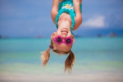 Happy little girl outdoors during summer vacation Stock Images