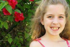 Happy little girl outside Stock Photography