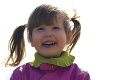 Happy little girl outside Stock Photography