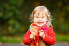 Happy little girl in the park Stock Photography