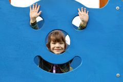 Happy little girl on playground Stock Photography