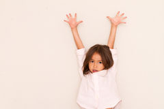 Happy little girl playing Stock Photography