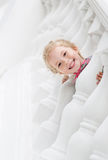Happy little girl playing Royalty Free Stock Photos