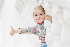 Happy little girl playing Royalty Free Stock Photography