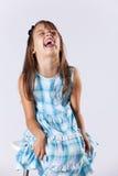 Happy little girl portrait stock photo