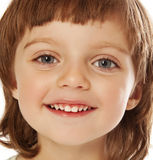 Happy little girl portrait close up Royalty Free Stock Photography