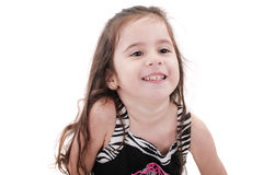 Happy little girl portrait Stock Photography