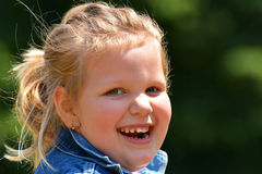 Happy little girl portrait Stock Photos