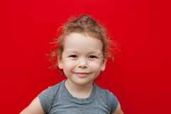 Happy little girl portrait Royalty Free Stock Photos