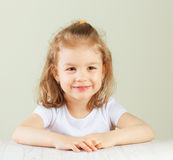 Happy little girl portrait Stock Photography