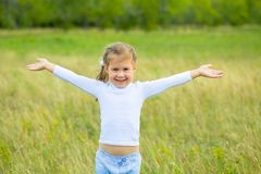 Happy little girl Royalty Free Stock Photo