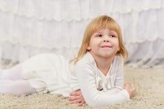 Happy little girl. Stock Photos