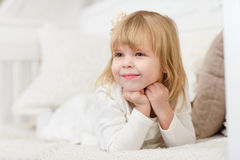 Happy little girl. Royalty Free Stock Photo