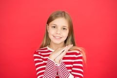 Happy little girl on red background. family and love. childrens day. Good parenting. Child care. small girl child royalty free stock photos