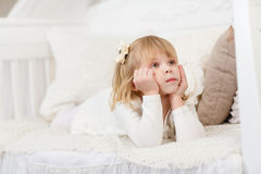 Happy little girl. Royalty Free Stock Photography