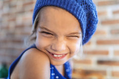 Happy little girl smile Stock Photo