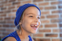 Happy little girl smile Royalty Free Stock Photography