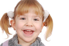 Happy little girl smiling Stock Image