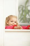 Happy little girl smiling Royalty Free Stock Image