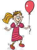 Happy little girl smiling with balloon. Stock Photography