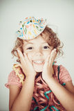 Happy little girl smiling Stock Images