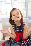 Happy little girl smiling Stock Photography