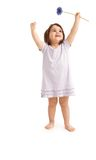 Happy little girl in spring Stock Photography