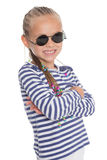 Happy little girl in sunglasses Royalty Free Stock Image