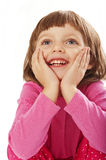 Happy little girl - surprise Royalty Free Stock Images
