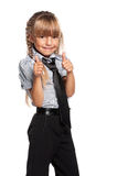 Happy little girl with thumbs up Royalty Free Stock Photography