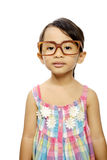 Happy Little Girl Wearing Glasses Royalty Free Stock Photo