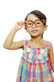 Happy Little Girl Wearing Glasses Stock Photo