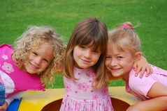 Happy little girls Royalty Free Stock Images