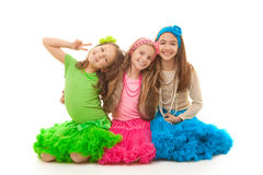 Happy little girls Stock Photo