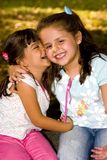 Happy little girls Stock Images