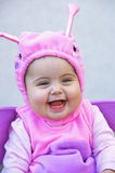 Happy little halloween baby. Cute little girl dressed for halloween Stock Images