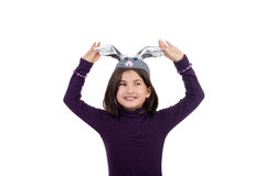 Happy little hare Stock Photos
