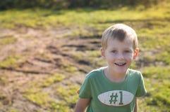 Happy little kid Stock Image