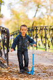 Happy little kid playing Royalty Free Stock Photography