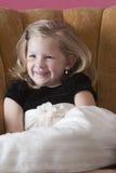 Happy little model Stock Images