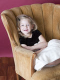 Happy little model Stock Image