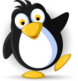 Happy little penguin cartoon Royalty Free Stock Photography