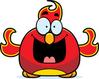 Happy Little Phoenix. A cartoon illustration of a phoenix bird looking happy Royalty Free Stock Image