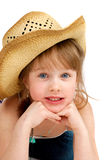 Happy little pretty cawgirl Royalty Free Stock Image