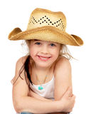 Happy little pretty cawgirl Stock Image