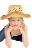 Happy little pretty cawgirl Stock Photos