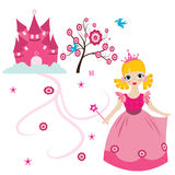 Happy little princess. Illustration of a happy little princess Royalty Free Stock Photography